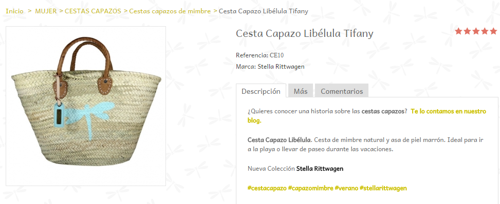 Descripción en la Ficha del Producto de un eCommerce