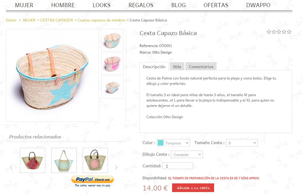 Catalogo de productos de la tienda online
