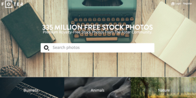 Bancos de fotos gratis - foter