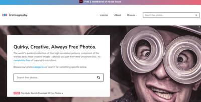 Bancos de fotos gratis - gratisography