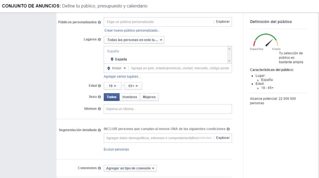 Publicidad de Facebook para Empresas