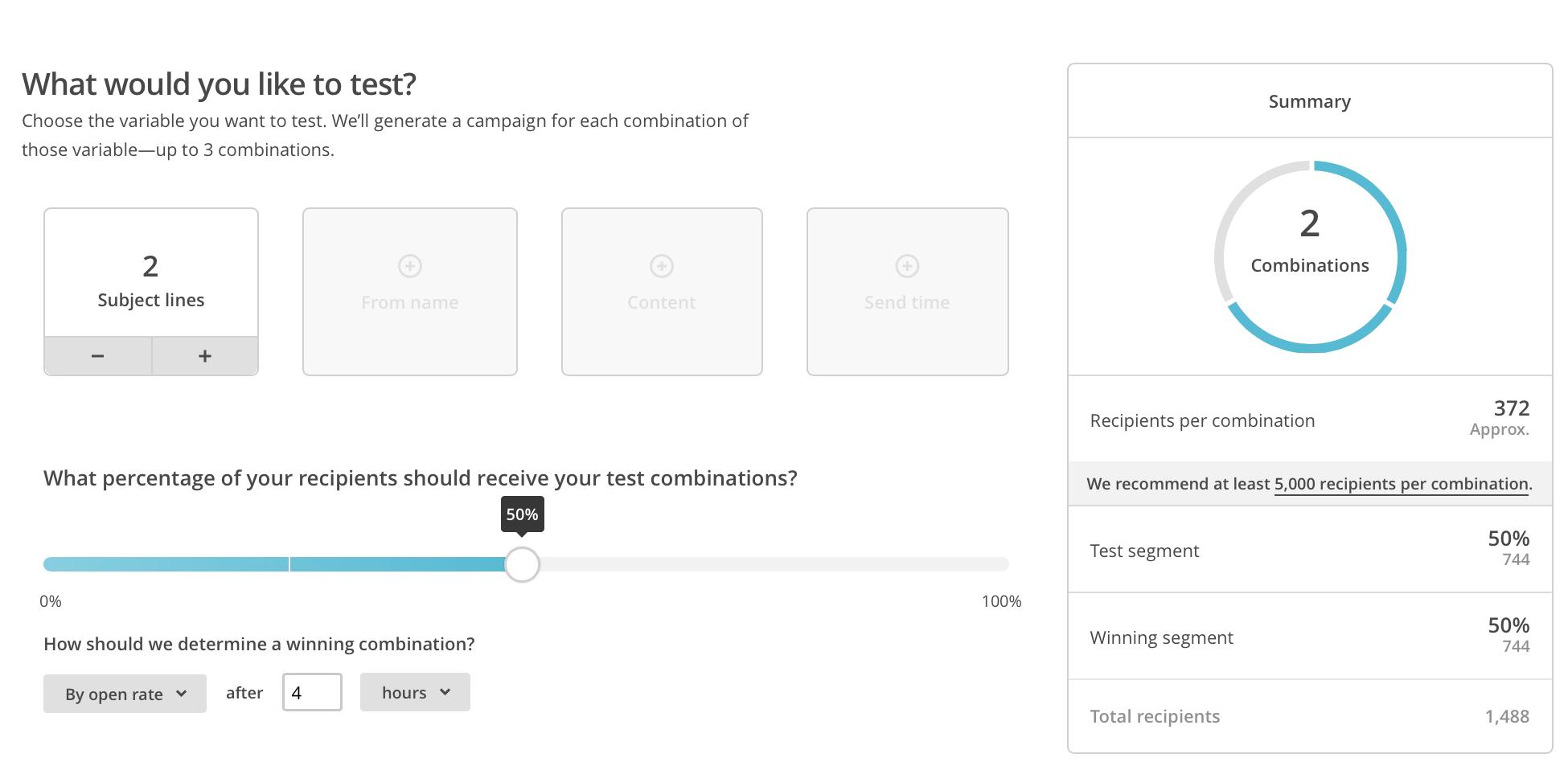 Creacion de Campañas ::B Testing en Mailchimp