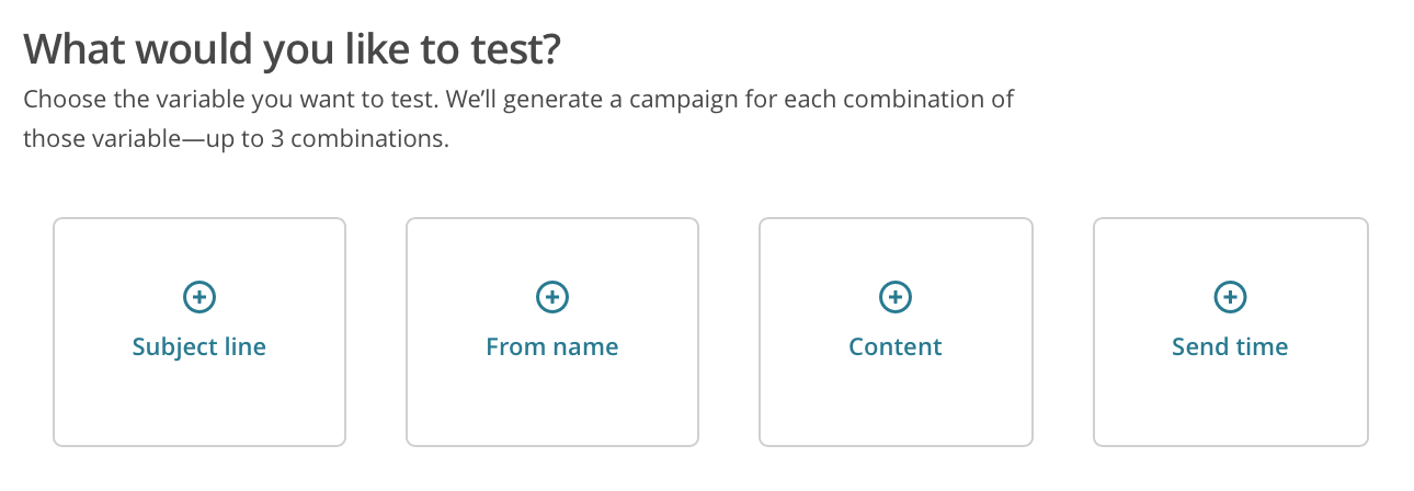Tipos de Prueba A:B Testing en Mailchimp