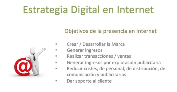 Objetivos de una estrategia digital