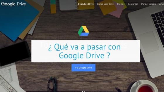 Qué va a pasar con Google Drive
