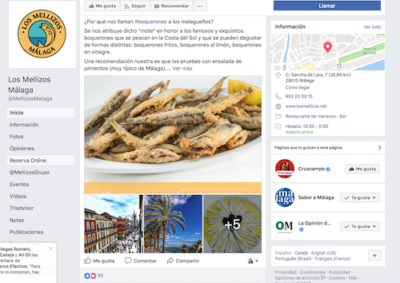 Marketing Digital Facebook Restaurantes