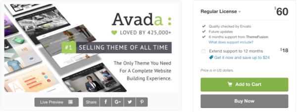 Como elegir una buena plantilla web - Avada