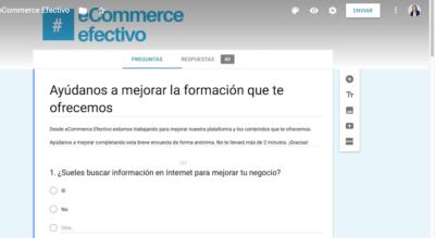 Diseñar encuestas online con Google Forms - Cabecera