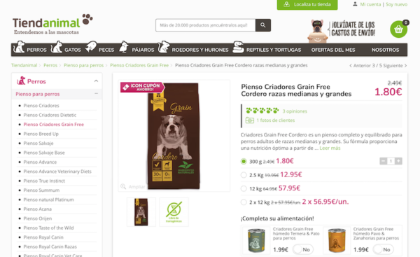 SEO de los productos Tienda Online