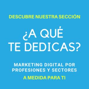 Marketing Digital por Profesiones y Sectores