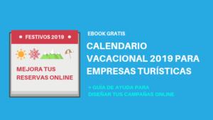Calendario Vacacional 2019 con Puentes y Festivos