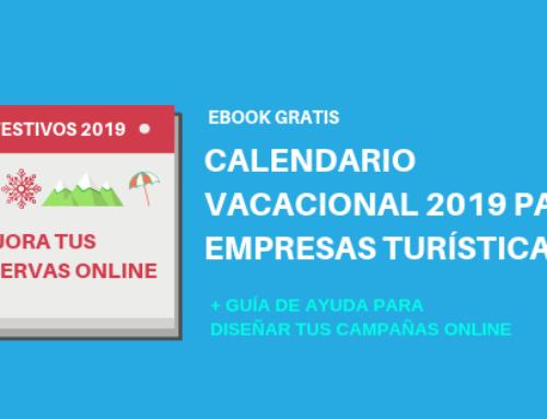 Calendario vacacional 2019 para empresas turísticas