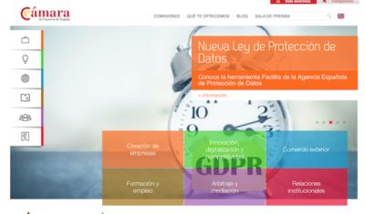 Camara Comercio España - Webs de ayuda a emprendedores