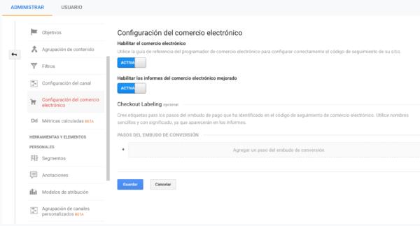 Cuadro de Mando para eCommerce- Google Analytics