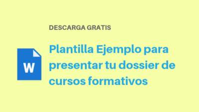 Plantilla Ejemplo para presentar tu dossier de cursos formativos