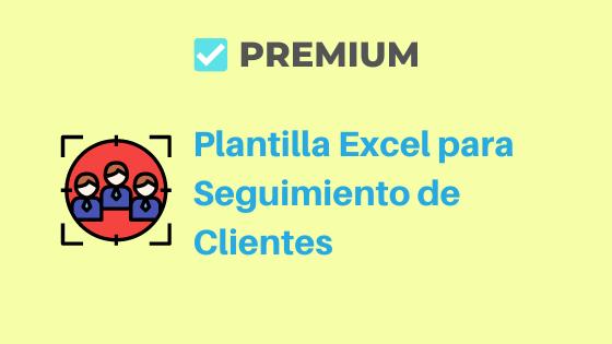 Plantilla Excel para Seguimiento de Clientes
