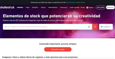 Bancos de imágenes de pago - Shutterstock