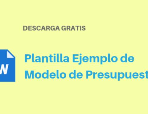 Plantilla Modelo de Presupuesto Word Gratis