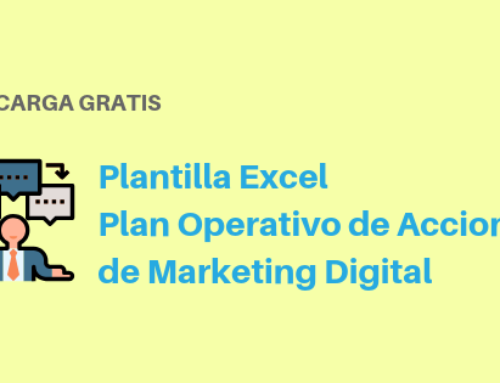 Plantilla Excel de Plan Operativo de Acciones de Marketing Digital