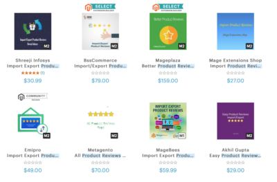 Extensiones Product Reviews Magento