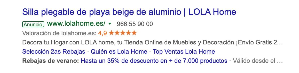Sistemas de Opiniones eCommerce - Google adWords