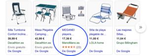 Sistemas de opiniones eCommerce - Google Shopping