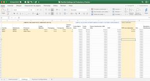 Plantilla Excel Catalogo Productos y Precios